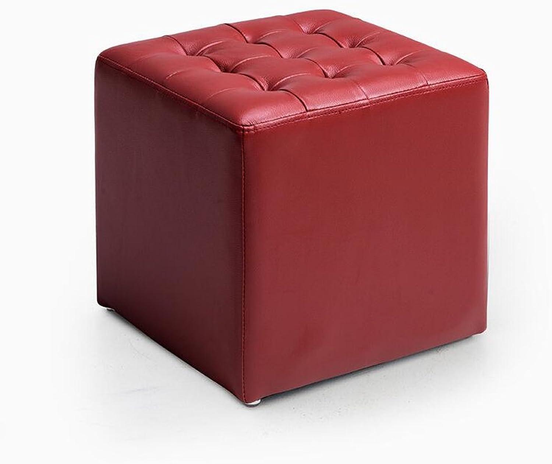 descuento de ventas en línea Rollsnownow rojo Square Change The zapatos Stool Taburete Taburete Taburete de sofá Taburete de la Sala Taburete de la Sala de EEstrella Llevando un Taburete  mejor calidad