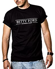 Camiseta Hipster con Frase Divertida Betty Ford Summer Camp Hombre