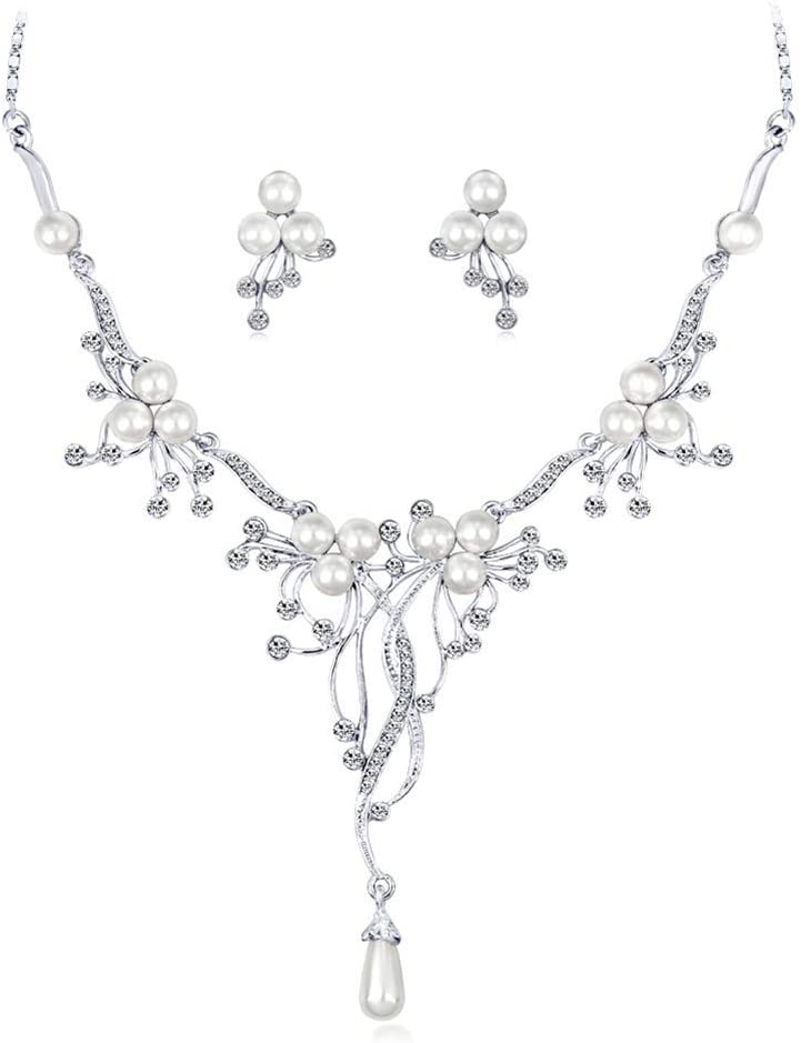 Urns Ashes Funeral Elegant Crystal Pearl Stud Earrings Choker Pendant Necklace Set Bridal Wedding Jewellery Set Dress Decoration for Women Girl,Colour Name:A Pet Memorial Dog cat Urn (Color : A)