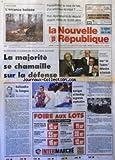 NOUVELLE REPUBLIQUE (LA) [No 15010] du 24/02/1994 - UN SCHEMA D'ACCUEIL DES GENS DU...