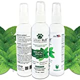 Lillian Ruff Dog Breath Freshener Spray - Spearmint Flavor- Fight Bad Breath, Dental Plaque and Tartar - Boost Immune System (4oz)