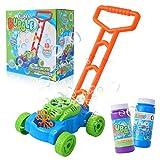 Herefun Máquina de Burbujas para Niños, máquina de Burbujas automática, Juguete Bubble Lawn Mower para Niñas Niño
