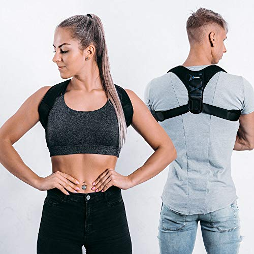 Posture Corrector For Men And Women, Adjustable Upper Back Brace, Back Straightener...