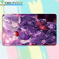 イエローアイランド カードゲームプレイマット 遊戯王 プレイマット Fate/Grand Order フェイト グランド オーダー FGO マシュ・キリエライト マウスパッド 収納ケース付き TCG万能 アニメ 萌え カード枠なし (60cm * 35cm * 0.5cm)