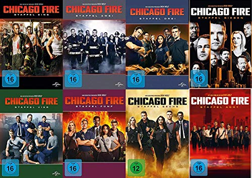 Chicago Fire - Die kompletten Staffeln 1+2+3+4+5+6+7+8 im Set - Deutsche Originalware [50 DVDs]