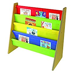 PERFECT FIT FOR TODDLERS: The height of this book rack storage bookshelf is just right for toddlers and preschool-aged children to safely grab their favourite book. This alternative to a bookcase is easy to assemble and the fabric pockets are great f...