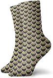 tyui7 Calcetines picantes de compresión con guacamole y papas fritas clásicas de punto plano Casual Athletic Stoking 30 cm Ligero