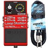 Boss RC de 1Loop Station Looper Pedal de Keepdrum de guitarra cable 3m
