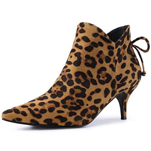 Allegra K Damen Overknees High Plateu Blockabsatz Boots Stiefel Leopard 39 EU