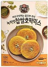 Korean Fancy Hotcake Mix; CJ Beksul Korean Sweet & Green Tea Pancake Mix, Hotteok (14.10 oz, 400g) ; 국민꿀간식 CJ 백설 호떡, 녹차호떡 믹스; 바로 구워 먹는 쫄깃한 호떡 (Sweet, 1 Pack)