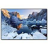 Cuadros decorativos Arte de pared Parque Nacional de los Estados Unidos Póster de escena de nieve Pinturas decorativas de paisaje de salón nórdico 20x28pulgadas