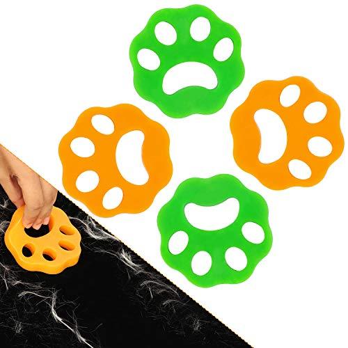 Riutilizzabile cattura peli lavatrice (4 pezzi), Biancheria Da Letto E Ricevitore Per Il Bucato, Sfera Di Pulizia Riutilizzabile Sfera Di Galleggiamento Per Animali Domestici Rondella Di Pelliccia