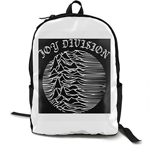 Joy And Divis-ion - Mochila de viaje para ordenador portátil, resistente al agua, mochila de negocios para mujeres, hombres, colegio, estudiante, regalo, bolsa de regalo para senderismo