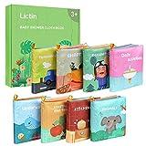 Lictin Stoffbuch für Babys Bilderbuch Stoff Babyspielzeug Soft Bilderbücher Neugeborene Stoff Puzzle Buch Entwicklung Stofftiere Babybuch Badebuch Geschenk