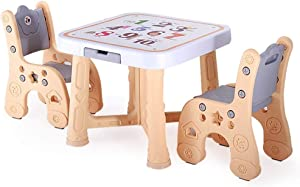 GSAGJzz Activity Table Chair Set  Study Table and Chair for Children  Toddler Game Drafting Table Chair  Infant Play Desk Table