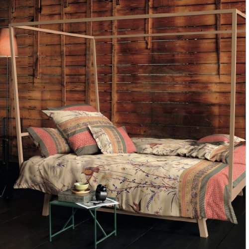 Bassetti Esprit - Juego de Cama (Funda de Almohada de 80 x 80 cm, Funda de edredón de 135 x 200 cm, satén), 100% algodón, Naranja, 200x200 + 2x80x80 cm