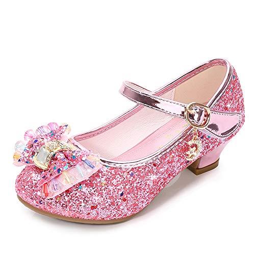 Lazzon Fille Ballerine Chaussures à Talon Enfant Sandales de
