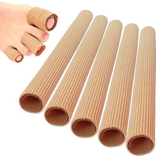 Zehen-Fingerschutz Zehenschutz Zehenkappen Bandagen Zehen Schlauchbandage Fingerbandage Zehenpolster 5 Stück Breiten 2.5cm