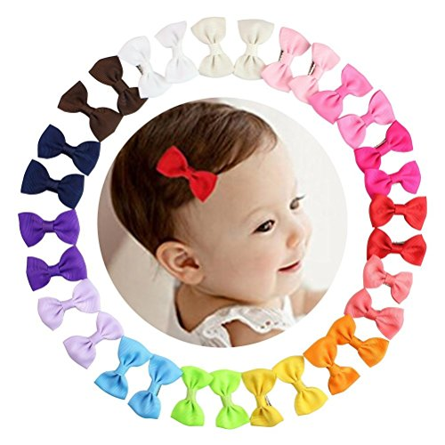 HBF 30 Piezas Clips Para Pelo Bebe Niña 15 Colores Orquillas Para Niñas Accesorio Para La Cabeza