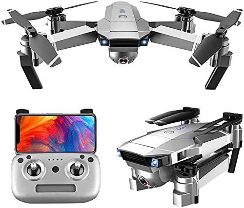 rzoizwko Drone, Drone Plegable Fotografía aérea HD Professional 4K Control Remoto Quadcopter Modelo de Larga duración Helicóptero al Aire Libre, Un cardán mecánico de Dos Ejes, Transmisión de Imagen