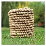 CAMPA DE CAMPING Cuerda de cáñamo natural de 16 mm de la cuerda gruesa de la cuerda gruesa de la cuerda para la jardinería que acampa la decoración de camping cuerda de nylon ( Color : 16MMx50Meters )