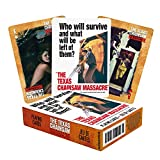 AQUARIUS Texas Chainsaw Massacre Playing Cards - TTCM Themed Deck of Cards for Your Favorite Card Games - Officially Licensed TTCM Merchandise - Poker Size with Linen Finish, Multicolored