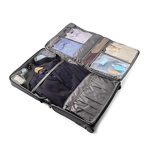 Samsonite Leverage LTE Softside Expandable Luggage with Spinner Wheels, Charcoal, Garment Bag