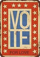 1972ラブヴィンテージルックに投票コレクティブルウォールアートティンサイン