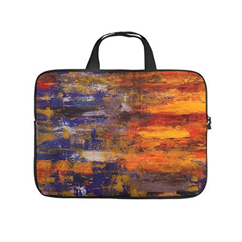Oil Graffiti on Canvas Texture Laptop Bag Wear-Resistant Laptop Briefcase Design Notebook Bag for University Work Business