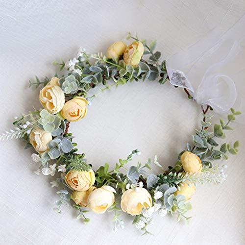Corona de Dama de Honor Rosa, Flor Y Los Accesorios De La...