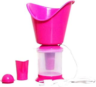 Facial 3 in 1 Technology Mini Super Steamer Steam Sauna Vaporizer Nose Cough Nozzle Inhaler, (Pink)