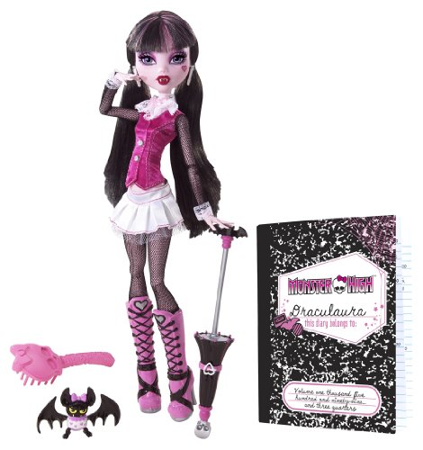 Mattel BBC65 - Monster High Draculaura Puppe mit Tagebuch