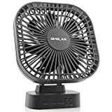 OPOLAR Battery Operated Fan, 5200mA Rechargeable Battery Powered Fan, Strong Wind but Quiet, Timer Setting, USB or Battery Powered for Office or Outdoor, Small Mini Personal Desk Fan
