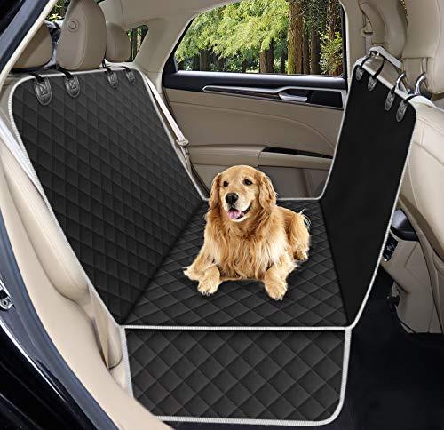 Alfheim Dog Autositzbezug, universelle Passform für die meisten Autos, Wasserdichter und kratzfester Rücksitzbezug, rutschfeste, strapazierfähige, waschbare Hundereisehängematte mit Seitenklappen