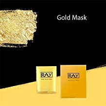 1 Box 10 PC Thailand Silk Silver Moisturizing Whitening And Brightening Facial Mask By Ray(Gold/Silver) (GOLD)