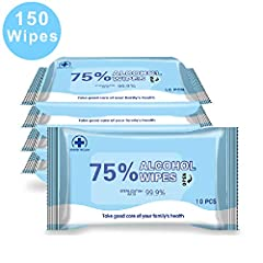 "FEATURE: 10 Cleaning Wipes per Pack. The large multipurpose cleaning wipes pull out one wipe, swipe & you're done. LARGE WiPES - 7.08""x5.5""alcohol wipes, easy to clean large area. It great for adults, family and office. PORTABLE DESIGN - Soft pack wi..."