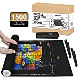 LOVEETA Puzzle Mat Jigsaw Roll Up - Puzzle Saver Storage Mats for 1500 Pieces Large Puzzle Keeper No Glue Jigsaw Puzzle Board Portable Thicker Felt Mat