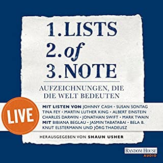 Lists of note     Aufzeichnungen, die die Welt bedeuten - live              By:                                                                                                                                 div.                               Narrated by:                                                                                                                                 Jasmin Tabatabai,                                                                                        Bela B.,                                                                                        Jörg Thadeusz,                   and others                 Length: 1 hr and 40 mins     Not rated yet     Overall 0.0