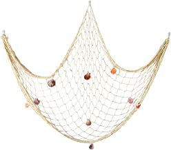 Natural Fishing Net Decor with Shells 79 Inch Beach Theme Decor for Party Home Bedroom Wall Hanging Fish Net Decorations