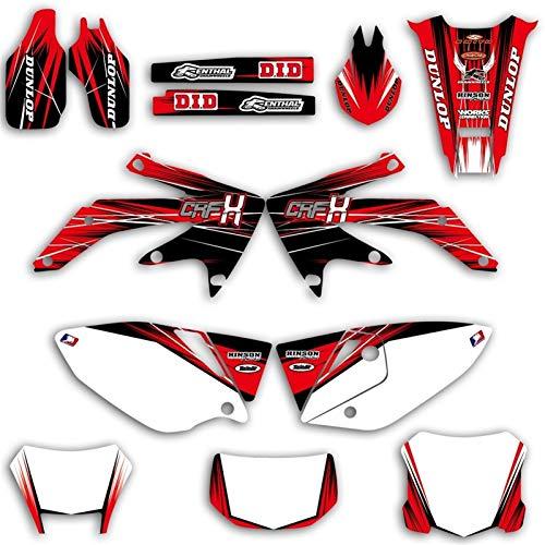 Motocross Bicicleta Pegatinas Resumen gráfico de la Etiqueta y Etiqueta engomada Kit for Honda CRF450X CRF 450X 450 X 4 Tiempos 2004-2012 2013 2014 2015 2016 2017 2018