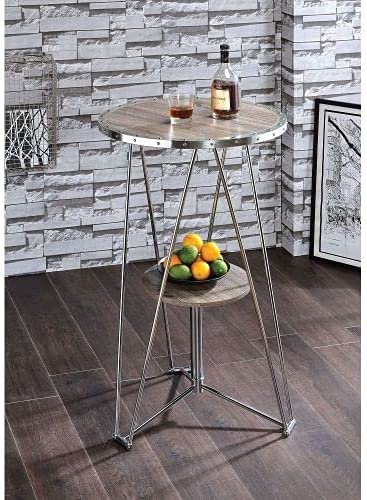 Jarvis Bar Table in OFFicial store Oak Gray Chrome Fixed price for sale