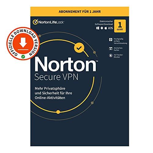 Norton Secure VPN   1 Gerät   1 Jahr   PC/Mac/Android   Aktivierungscode per Email