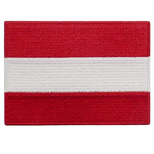 EmbTao Österreich Flagge Bestickter Aufnäher zum Aufbügeln/Annähen