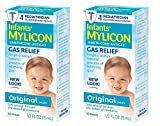 Mylicon Gas Relief Drops for Infants and Babies, Original Formula, 0.5 Fluid Ounce, 2 Count
