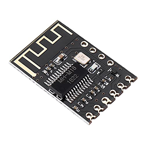 YEZIB Accesorios electrónicos de Bricolaje, M18 Bluetooth 4.2 Módulo Receptor de Audio sin pérdida de la Junta de Altavoz del Coche del Amplificador del Auricular inalámbrico Vuelva a Colocar 10pcs