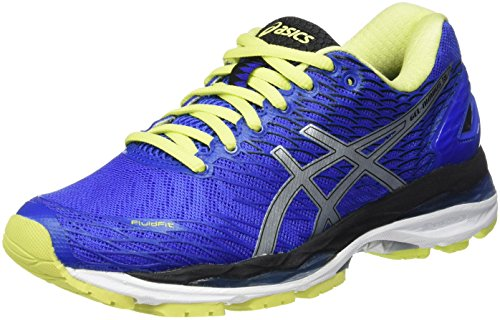 ASICS Gel-Nimbus 18 (Rio), Zapatillas de Running, Azul (Blue Purple/Silver/Sunny Lime), 35.5...