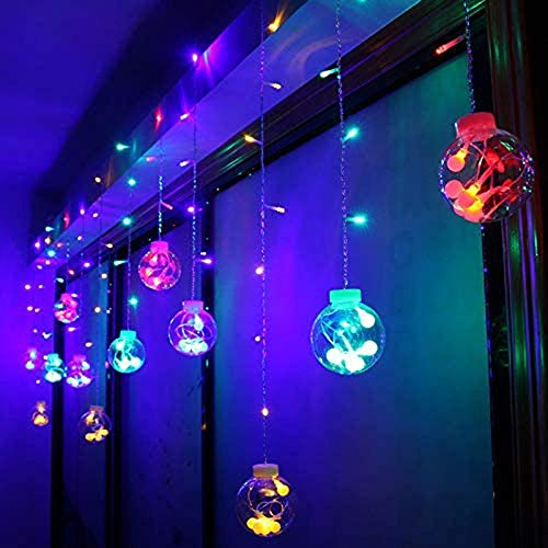 Cratone LED String Lights 2.5 M Curtain Fairy Lights Waterproof for Christmas Window Garden Party (Multi Color)