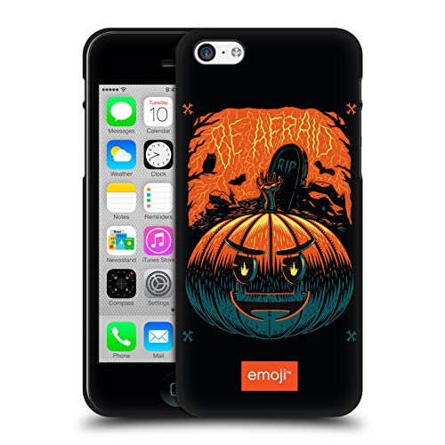 Head Case Designs Ufficiale Emoji Zucca Halloween Cover Nera in Morbido Gel Compatibile con Apple iPhone 5 / iPhone 5s / iPhone SE 2016