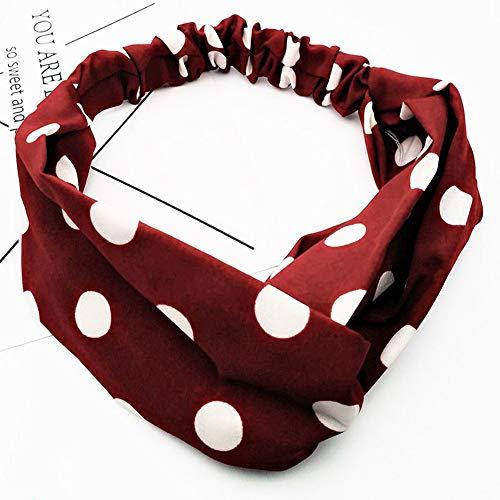 KAEHA SUN-075-00a haarband voor dames en meisjes, wijn