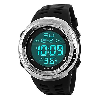 sunjas resistente al agua Digital LED Alarma Calendario reloj reloj deportivo Hombre Mujer Reloj De Pulsera